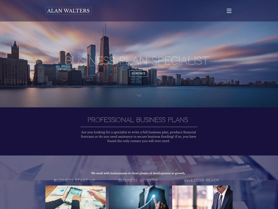 The Alan Walters website created by it'seeze Website Design Nottingham