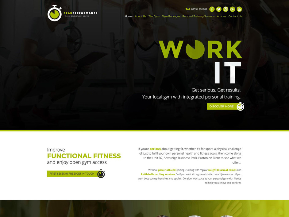 The Peak Performance website created by it'seeze Website Design Nottingham